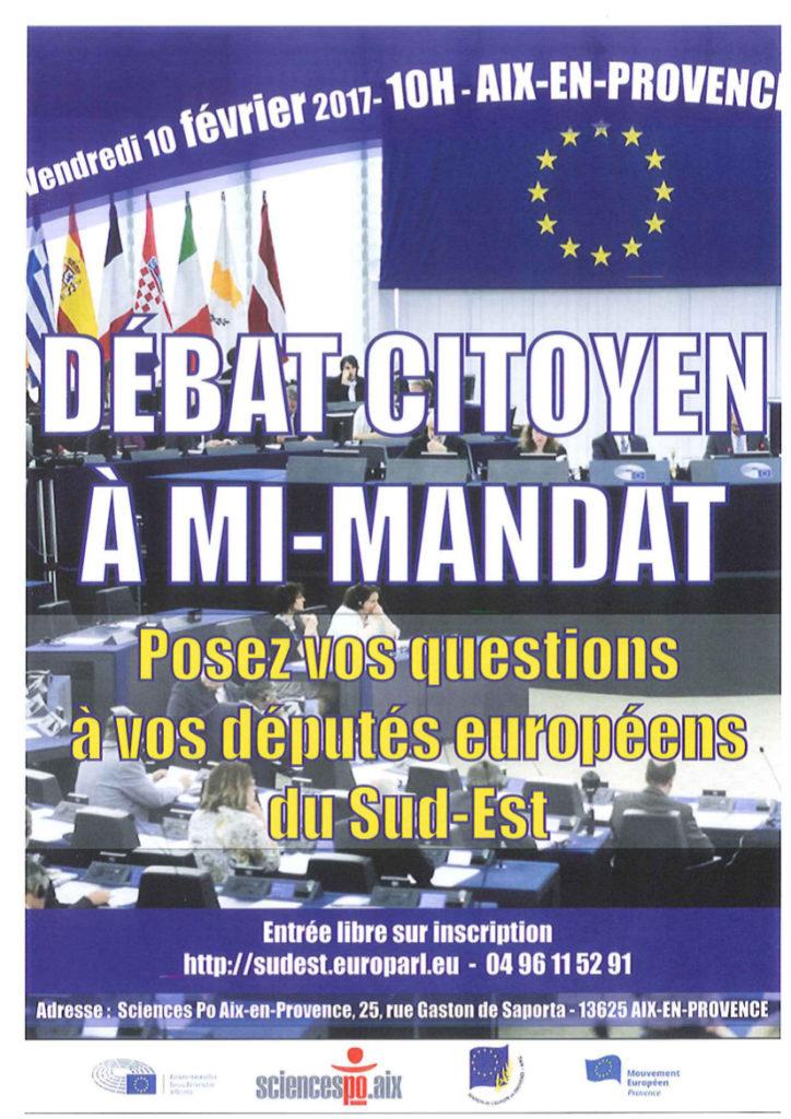 affiche débat euro députés