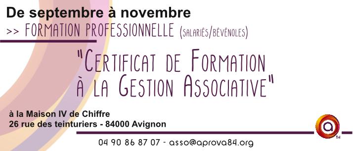 Certificat de formation la gestion associative sept nov - Formation a distance diplomante reconnue par l etat ...